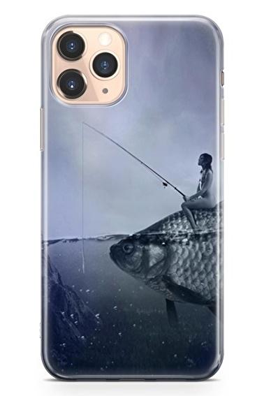 Lopard İphone 11 Pro Kılıf Silikon Arka Kapak Koruyucu Balıkçı Kız Desenli Full HD Baskılı Renkli
